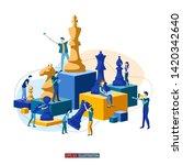 trendy flat illustration.... | Shutterstock .eps vector #1420342640