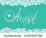 love hand drawn calligraphy   ... | Shutterstock .eps vector #1420342736
