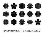 set of black flowers icons.... | Shutterstock .eps vector #1420346219