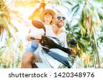 cheerful smiling couple... | Shutterstock . vector #1420348976