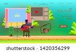 landing page website template.... | Shutterstock .eps vector #1420356299