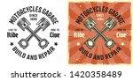 crossed pistons vector emblem ... | Shutterstock .eps vector #1420358489