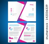 booklet catalog brochure folder ... | Shutterstock .eps vector #142036339