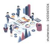 isometric vector illustration.... | Shutterstock .eps vector #1420365326