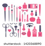 make up and decorative... | Shutterstock .eps vector #1420368890