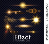 realistic lens flare elements... | Shutterstock .eps vector #1420368920