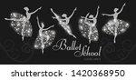 ballerina silhouettes set.... | Shutterstock .eps vector #1420368950