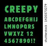 creepy font vector text set   Shutterstock .eps vector #1420373279