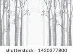 Tree Birch Design Background...