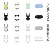 vector illustration of bikini...   Shutterstock .eps vector #1420378640