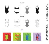 vector design of bikini and...   Shutterstock .eps vector #1420381643