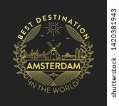 vector amsterdam city badge ... | Shutterstock .eps vector #1420381943