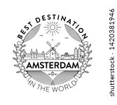 vector amsterdam city badge ... | Shutterstock .eps vector #1420381946