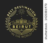 vector beirut city badge ... | Shutterstock .eps vector #1420381970