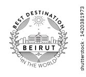 vector beirut city badge ... | Shutterstock .eps vector #1420381973