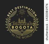 vector bogota city badge ... | Shutterstock .eps vector #1420381976