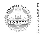 vector bogota city badge ... | Shutterstock .eps vector #1420381979
