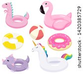 collection of inflatable...   Shutterstock .eps vector #1420385729