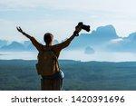 female tourist photographers... | Shutterstock . vector #1420391696