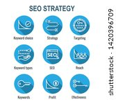 seo strategy   search engine... | Shutterstock .eps vector #1420396709