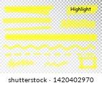 yellow highlighter marker... | Shutterstock .eps vector #1420402970