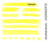 hand drawn highlight marker... | Shutterstock .eps vector #1420402973