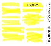 hand drawn highlight marker... | Shutterstock .eps vector #1420402976