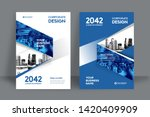 corporate book cover design... | Shutterstock .eps vector #1420409909