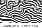 optical illusion wave. abstract ... | Shutterstock .eps vector #1420411553