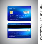 vector credit card. front and... | Shutterstock .eps vector #1420412360