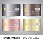 credit cards vector set with... | Shutterstock .eps vector #1420412369
