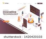 modern flat design isometric... | Shutterstock .eps vector #1420420103
