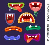 set of monsters mouths. photo...