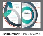 template annual report brochure ... | Shutterstock .eps vector #1420427390