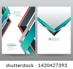 template annual report brochure ... | Shutterstock .eps vector #1420427393