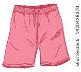vector single cartoon pink...   Shutterstock .eps vector #1420438370