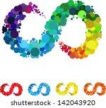 Colorful Circular Bubble ...