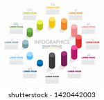 infographic design template...   Shutterstock .eps vector #1420442003