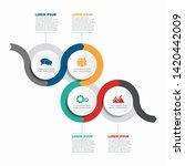 infographic design template...   Shutterstock .eps vector #1420442009