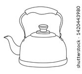 sketch  outline teapot with...   Shutterstock .eps vector #1420443980
