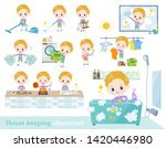 a set of boy caucasian related... | Shutterstock .eps vector #1420446980