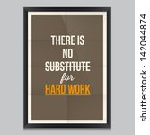 work quote poster by thomas... | Shutterstock .eps vector #142044874