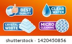 washing clothes stickers set ... | Shutterstock .eps vector #1420450856