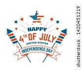 vintage 4th of july design in... | Shutterstock .eps vector #1420451219