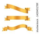gold ribbon collection. golden...   Shutterstock .eps vector #1420451789