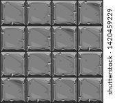 seamless texture of gray square ...