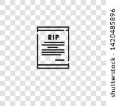 death certificate icon from ...   Shutterstock .eps vector #1420485896