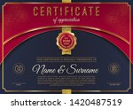 certificate template with... | Shutterstock .eps vector #1420487519