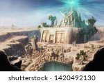 the ancient cityscape of the...   Shutterstock . vector #1420492130