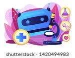 medical technology  futuristic... | Shutterstock .eps vector #1420494983